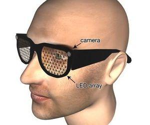 g nstige led brille hilft praktisch blinden. Black Bedroom Furniture Sets. Home Design Ideas