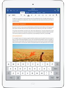 Word für iPad: So sieht echtes Office aus (Foto: microsoft.com)