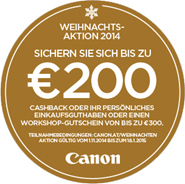 Canon-Weihnachtsaktion 2014 (Copyright: Canon)