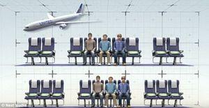 Sitzplätze: Zehn statt neun Sitze bei United Airlines (Foto: NextMedia.com)