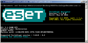 ESET TeslaCrypt Decryptor (Foto: ESET)
