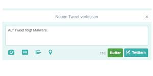 Malware wird über Twitter gesteuert (Bild: ESET)