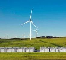 Speicher für Windfarm: soll Stromversorgung sichern (Foto: tesla.com)