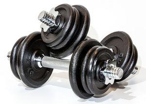 Hanteln: Training mit hohem Gewicht optimal (Foto: Thorben Wengert, pixelio.de)