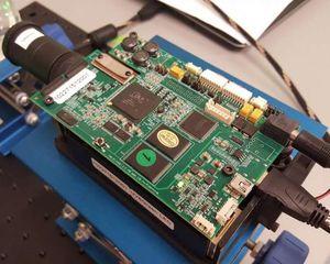 Versuchsanordnung im Labor: Forscher projizieren Licht-Objekte (Foto: smu.edu)