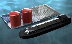 Schwimmende Plattform produziert Solar-Wasserstoff (Grafik: Daniel Esposito)