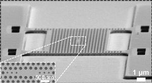 Lichtfalle (Mitte) und Membran unter dem Mikroskop (Foto: tue.nl/en)