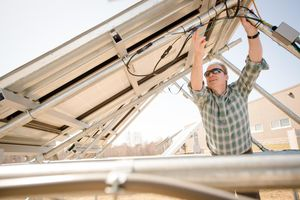 Solar-Installation: lohnende Tabak-Alternative (Foto: Sarah Bird, mtu.edu)
