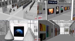 La mostra d'arte all'interno della stazione centrale (© ARTBOX.GROUPS GmbH)
