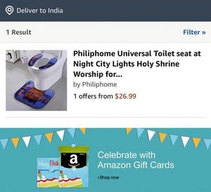 Klo des Anstoßes bei Amazon (Foto: twitter.com, @capt_amarinder)