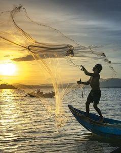 Netz auswerfen: Schleppnetzfischerei kritisiert (Foto: pixabay.com, Quangpraha)