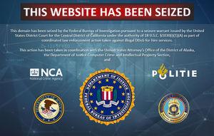 Beschlagnahmt: Seiten liefern kein Cybercrime mehr (Foto: DoJ, fbi.gov)