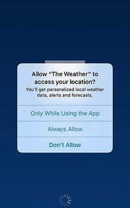 Standort: Daten offenbar an Dritte verkauft (Foto: weather.com)