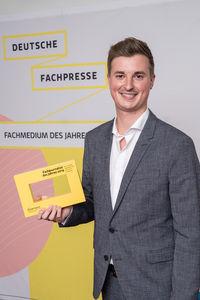 Christoph Seyerlein ist Fachjournalist des Jahres 2019 (Foto: Markus Nass)