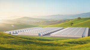 Effizienter Großspeicher: So grün wirbt Tesla (Foto: tesla.com)