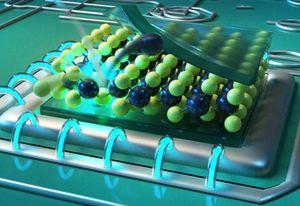 Fehlstellen dienen als Nano-Lichtquellen (Grafik: Christoph Hohmann, MCQST)