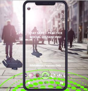 """My Social Distance"": Snapchat-Filter hilft beim Distanzhalten (Foto: snap.com)"