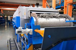 Outlet of mesh belt furnace