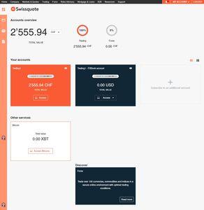Swissquote bietet Handel mit virtueller Währung Bitcoin an.