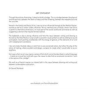 Daniel Shorkend - Art statement