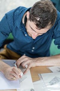 L'artiste Marc Brousse
