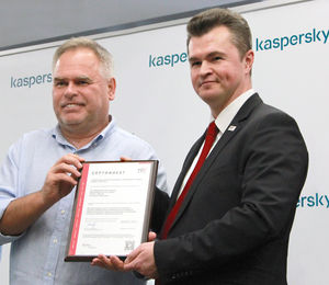 Kaspersky is ISO 27001-certified