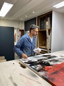 Francesco Cusumano in his studio
